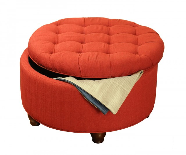 Large Round Ottoman With Storage