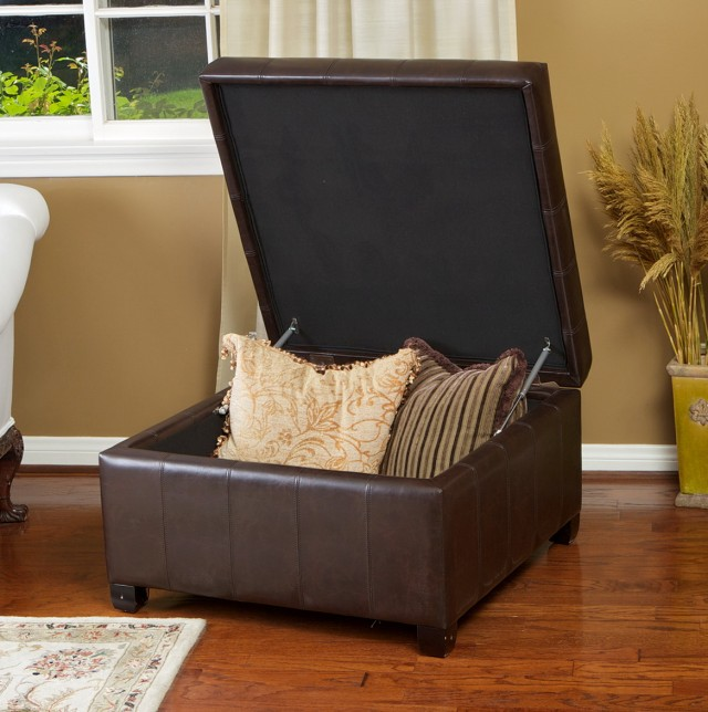 Leather Ottoman With Storage Costco
