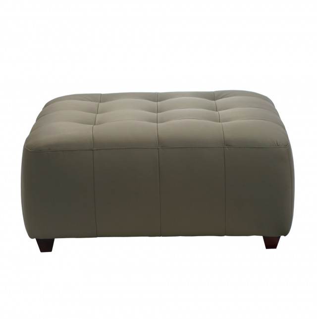 Leather Square Tufted Ottoman