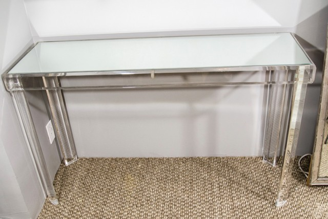 Lucite Console Table Crate And Barrel