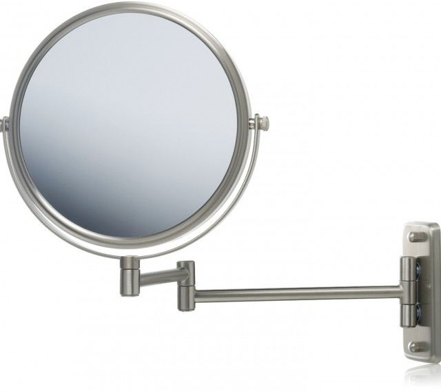 Magnifying Mirror With Light Wall Mount