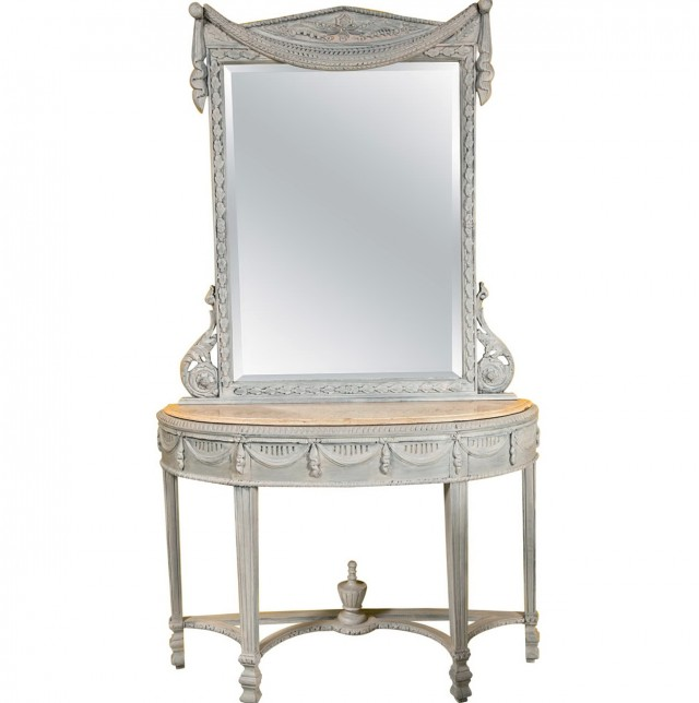 Marble Top Console Table And Mirror
