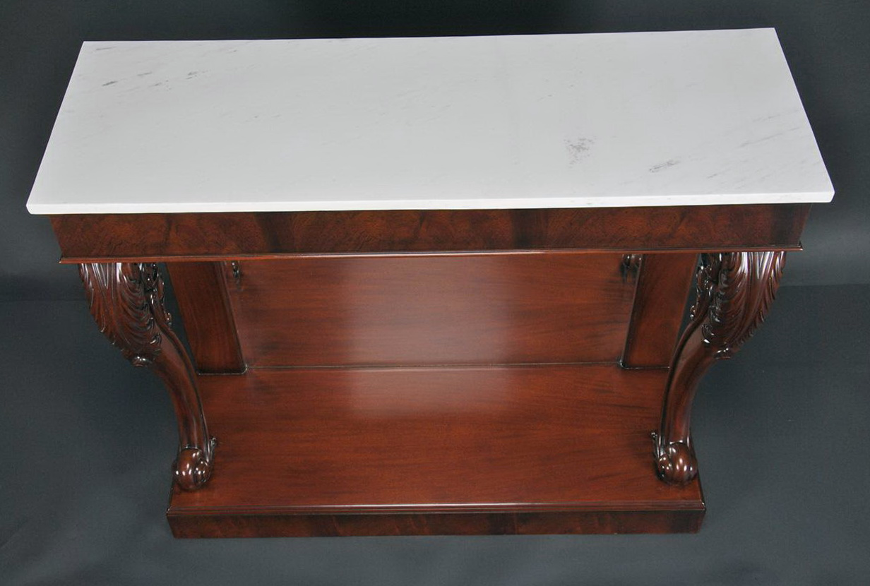 Marble Top Console Table Antique