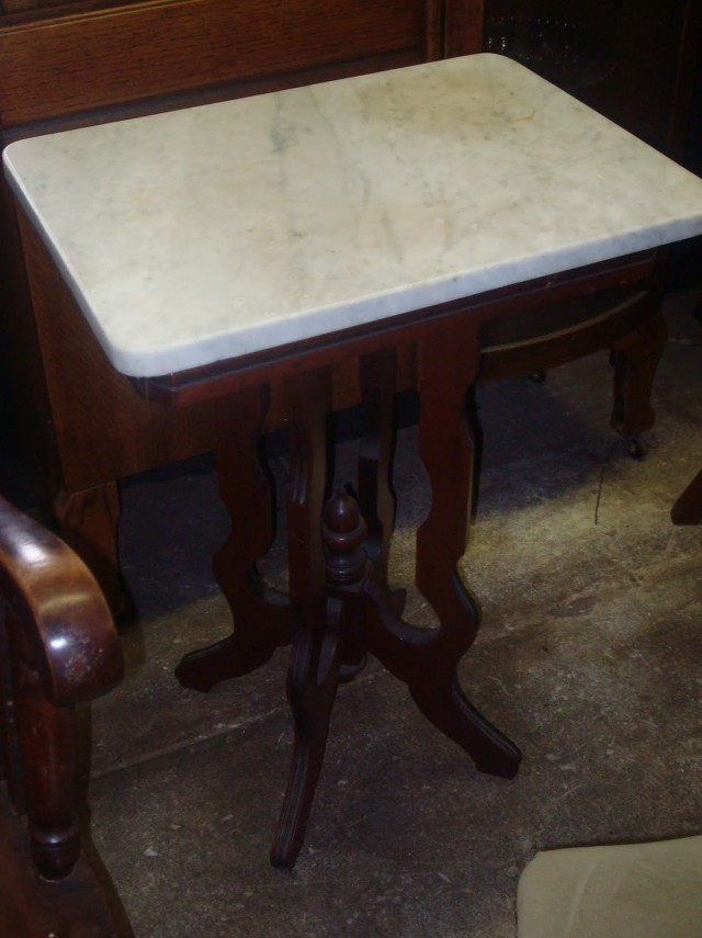 Marble Top Side Table Antique