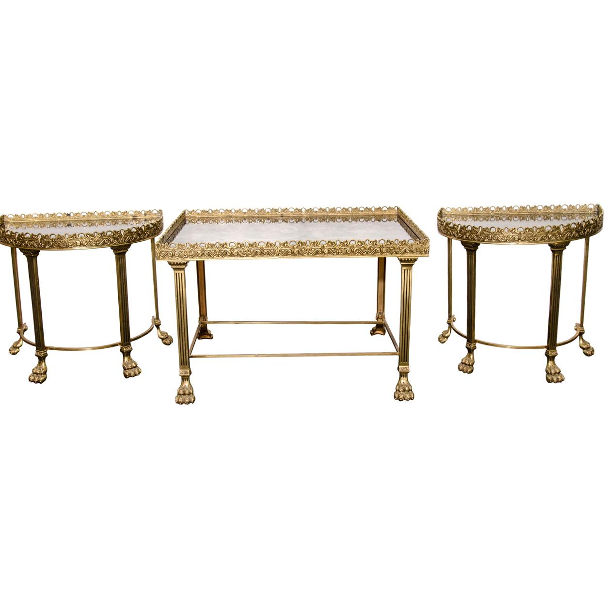 Mirror Coffee Table Set