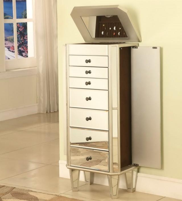 Mirror Jewelry Box Armoire