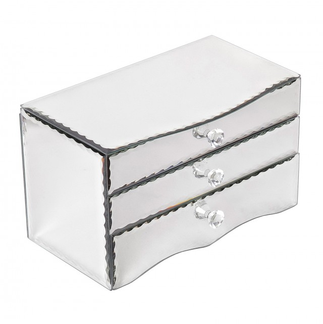 Mirror Jewelry Box With Lock