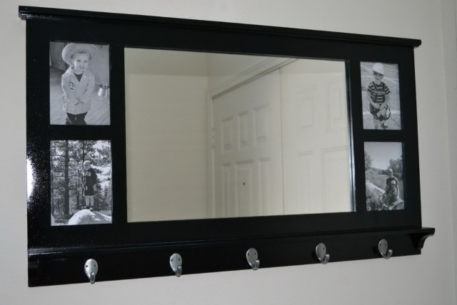 Mirror With Hooks For Entryway