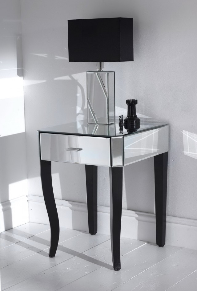 Mirrored Bedroom Side Tables