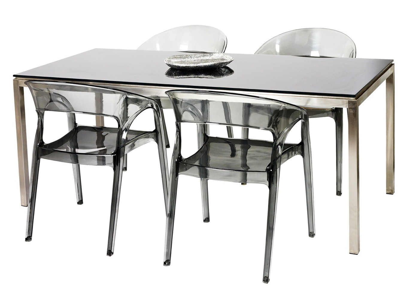 Mirrored Dining Table And Chairs