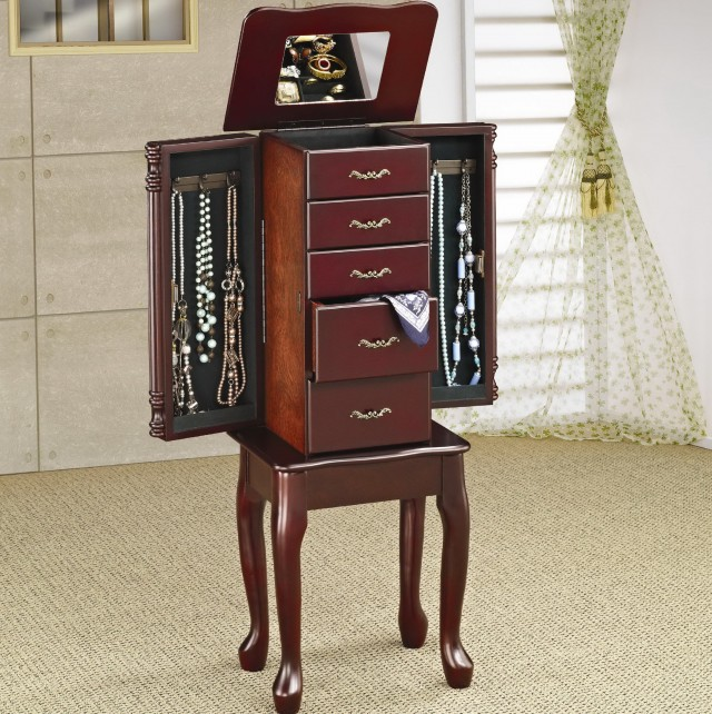 Mirrored Jewelry Cabinet Canada