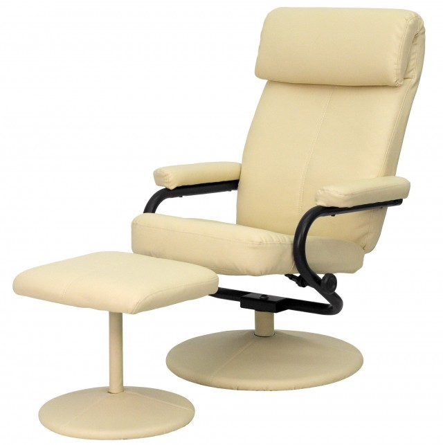 Modern Leather Chair And Ottoman