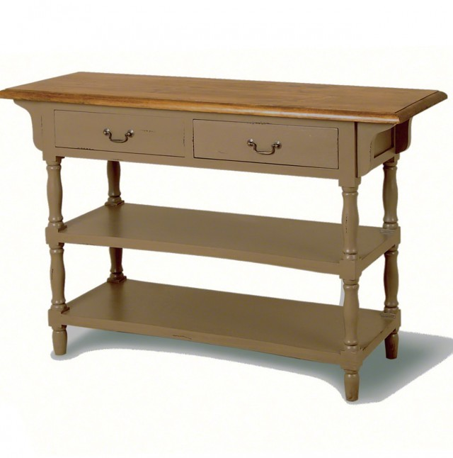 Narrow Console Table With Shelves