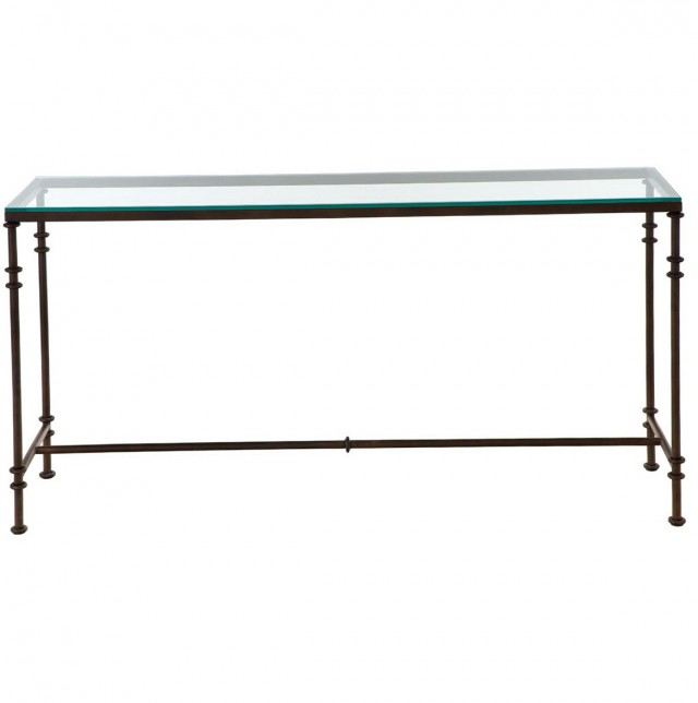 Narrow Metal Console Table