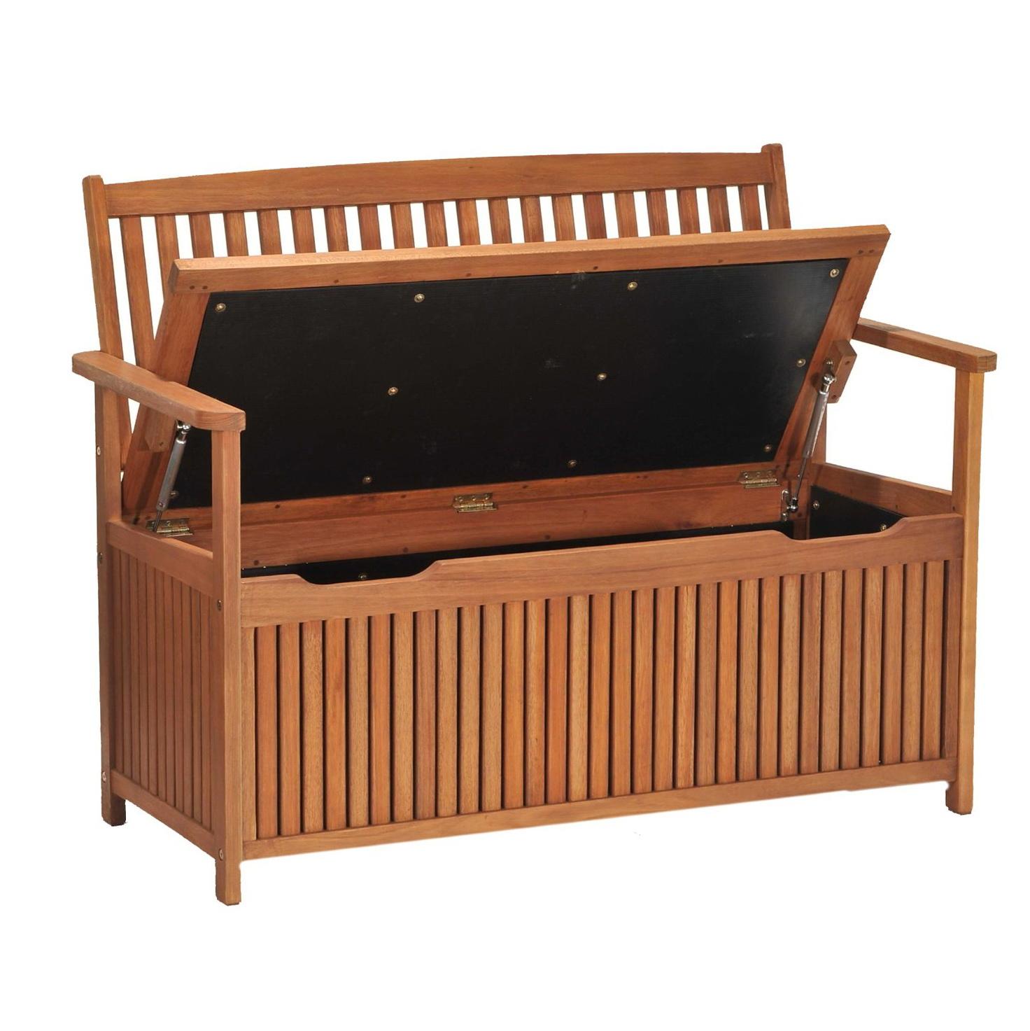 Outdoor Wood Storage Bench
