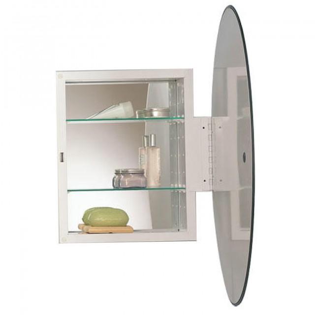 Oval Mirrored Medicine Cabinet