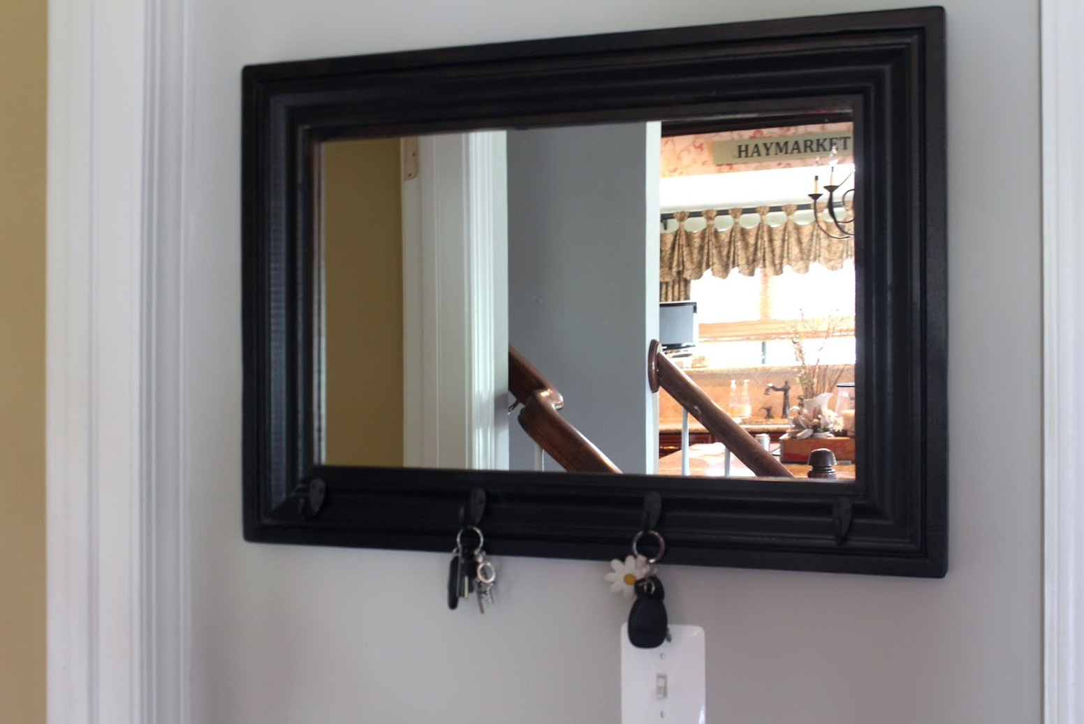 Pub Mirror With Hooks