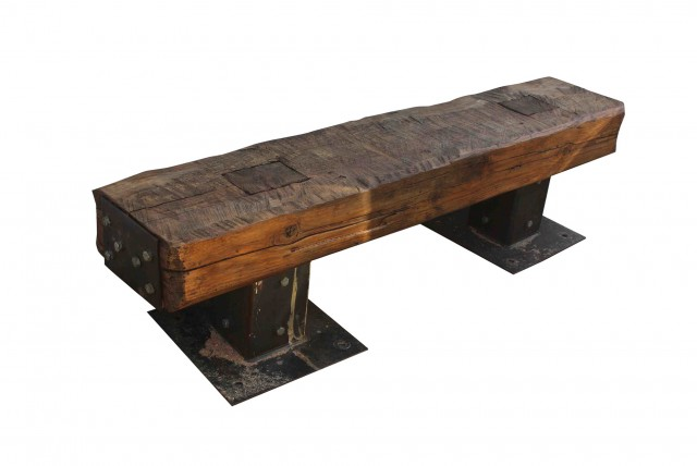 Reclaimed Wood Bench Outdoor