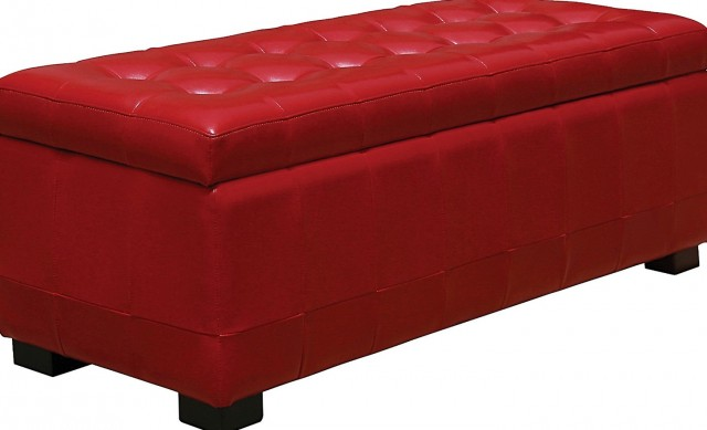 Red Storage Ottoman Canada
