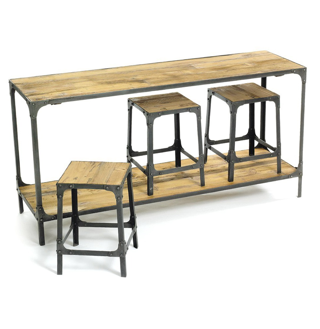 Rustic Metal Console Table