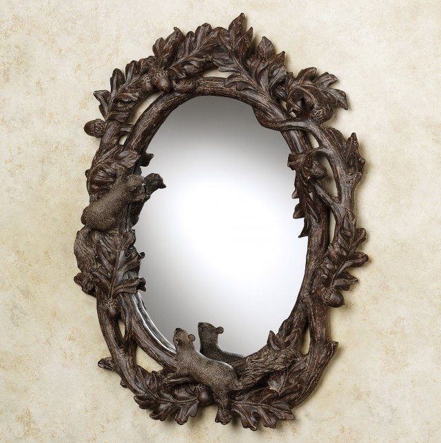 Rustic Oval Bathroom Mirrors
