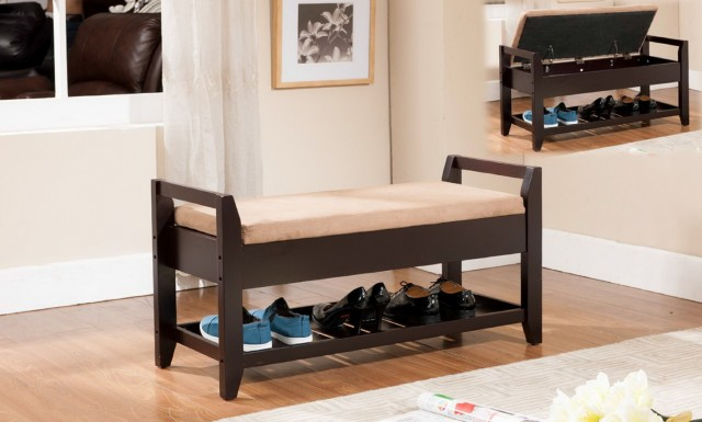 Shoe Storage Bench With Cushion