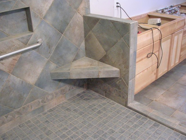 Shower Bench Seat Construction