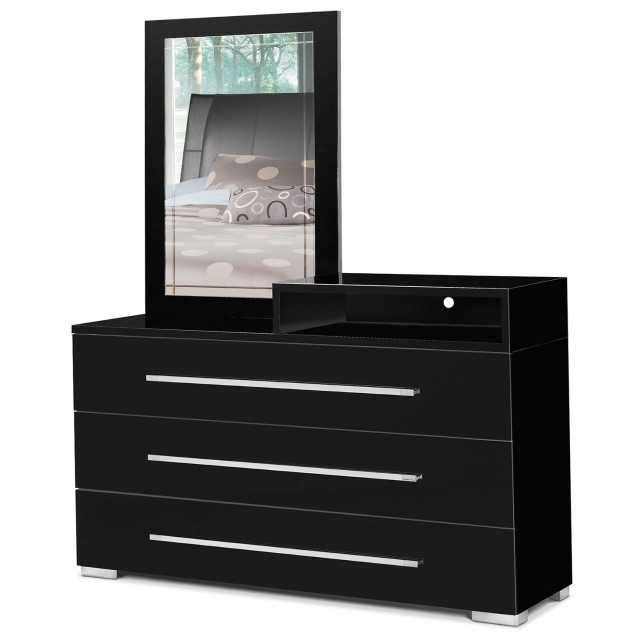 Small Black Dresser With Mirror