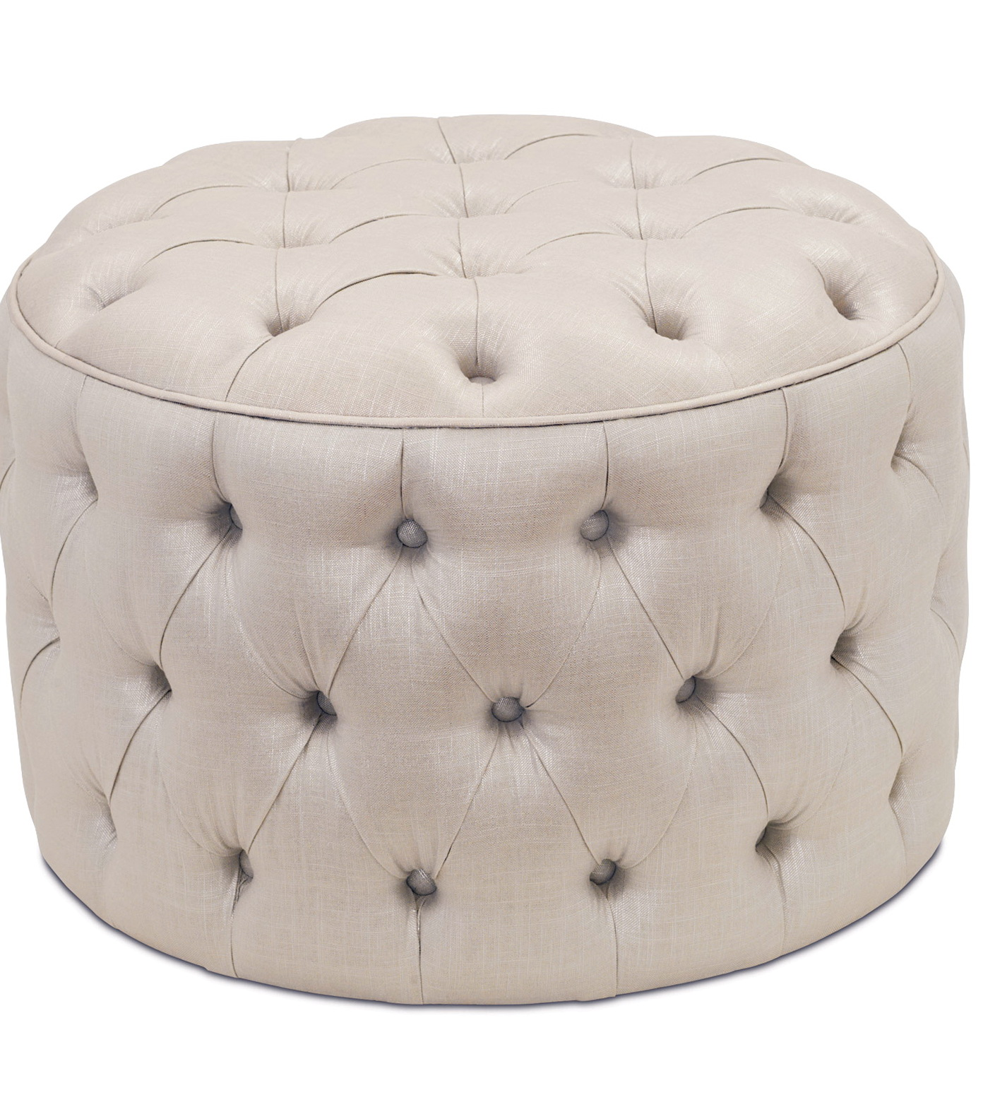 Small Round Tufted Ottoman