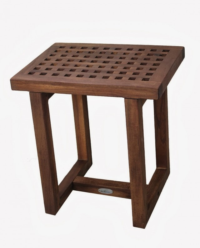 Small Teak Shower Bench