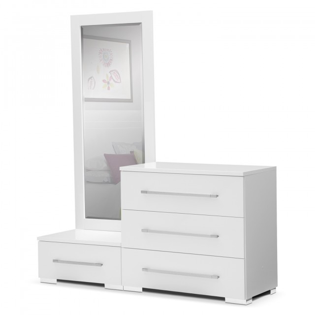 Small White Dresser With Mirror