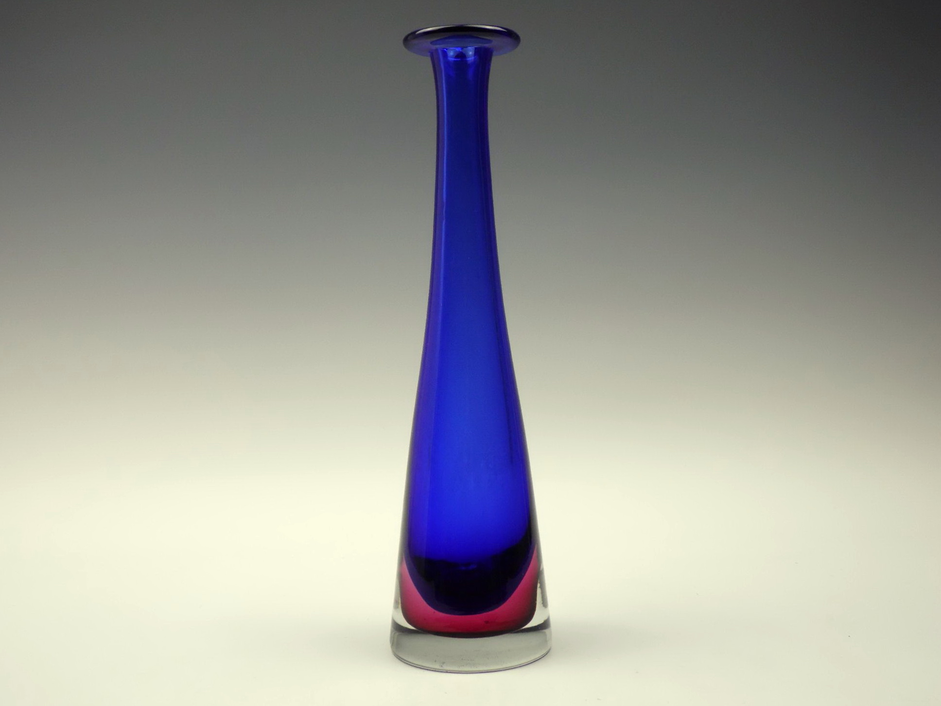 Tall Blue Glass Vase