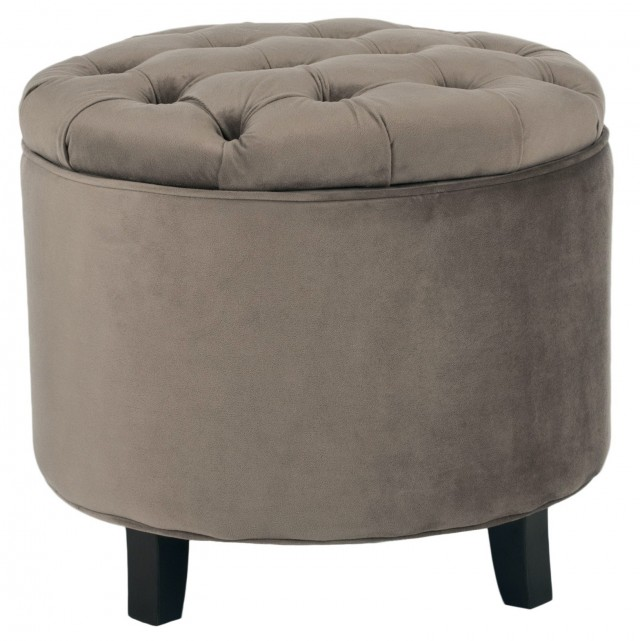 Threshold Round Tufted Storage Ottoman