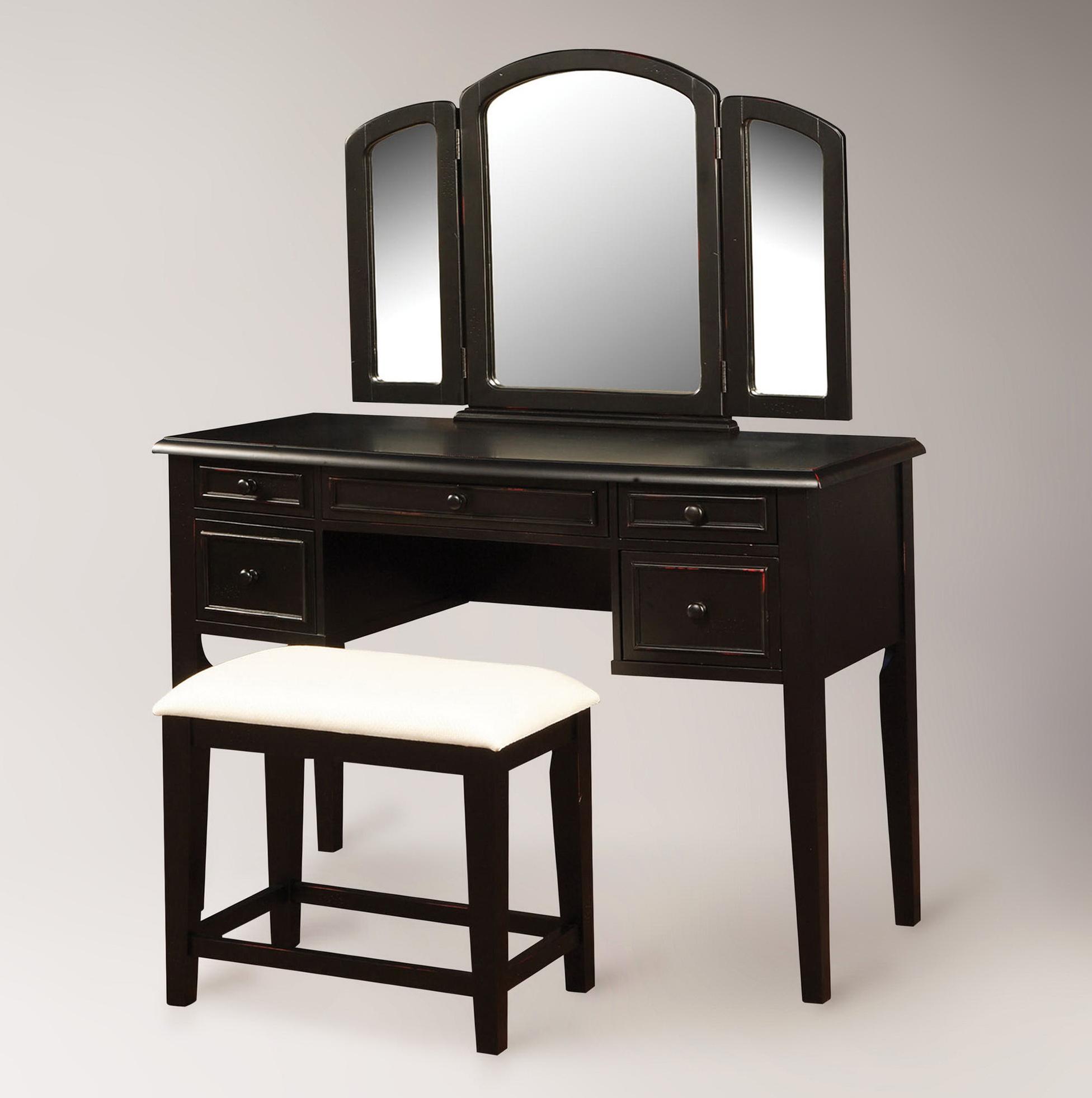 Tri Fold Vanity Mirror With Lights