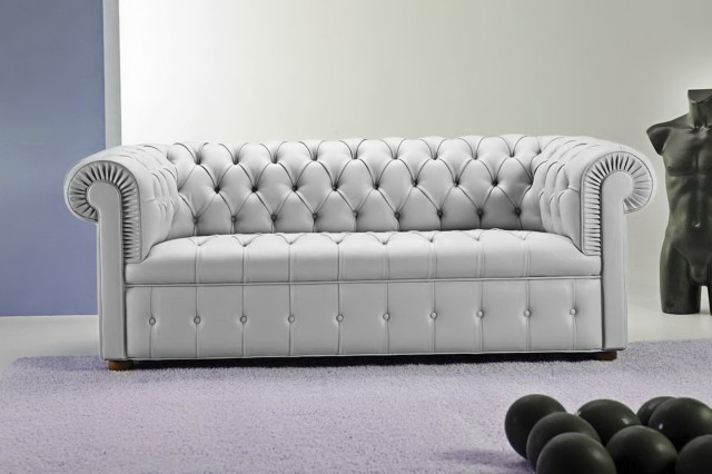 Tufted Leather Ottoman Restoration Hardware