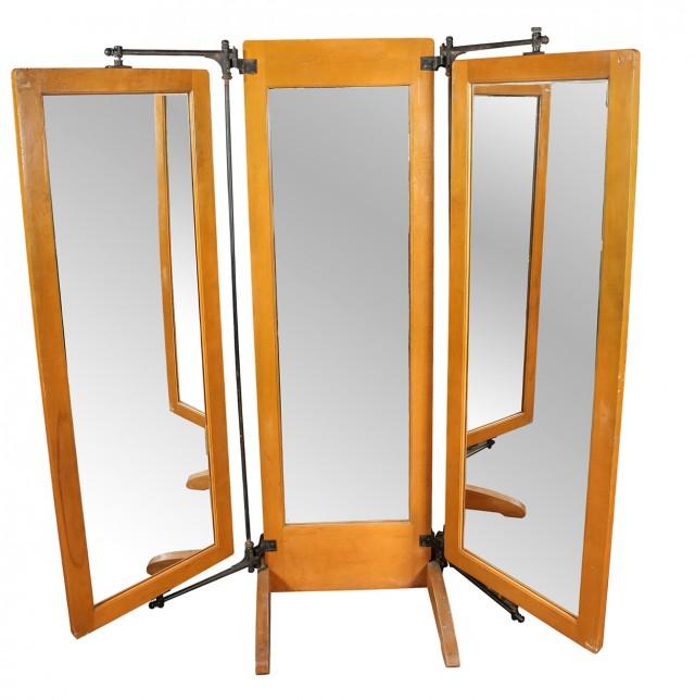 Vintage Tri Fold Vanity Mirror