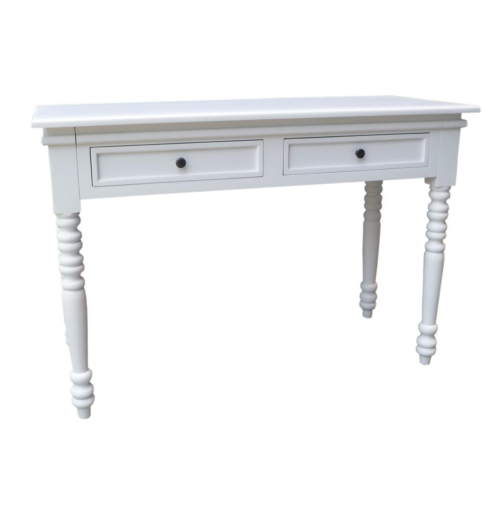 White Antique Console Table