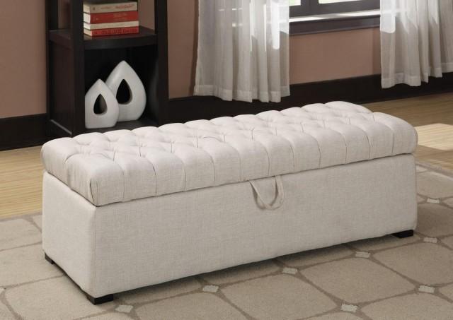 White Bedroom Storage Bench