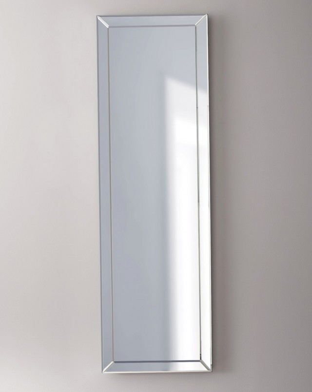 White Framed Mirror Full Length
