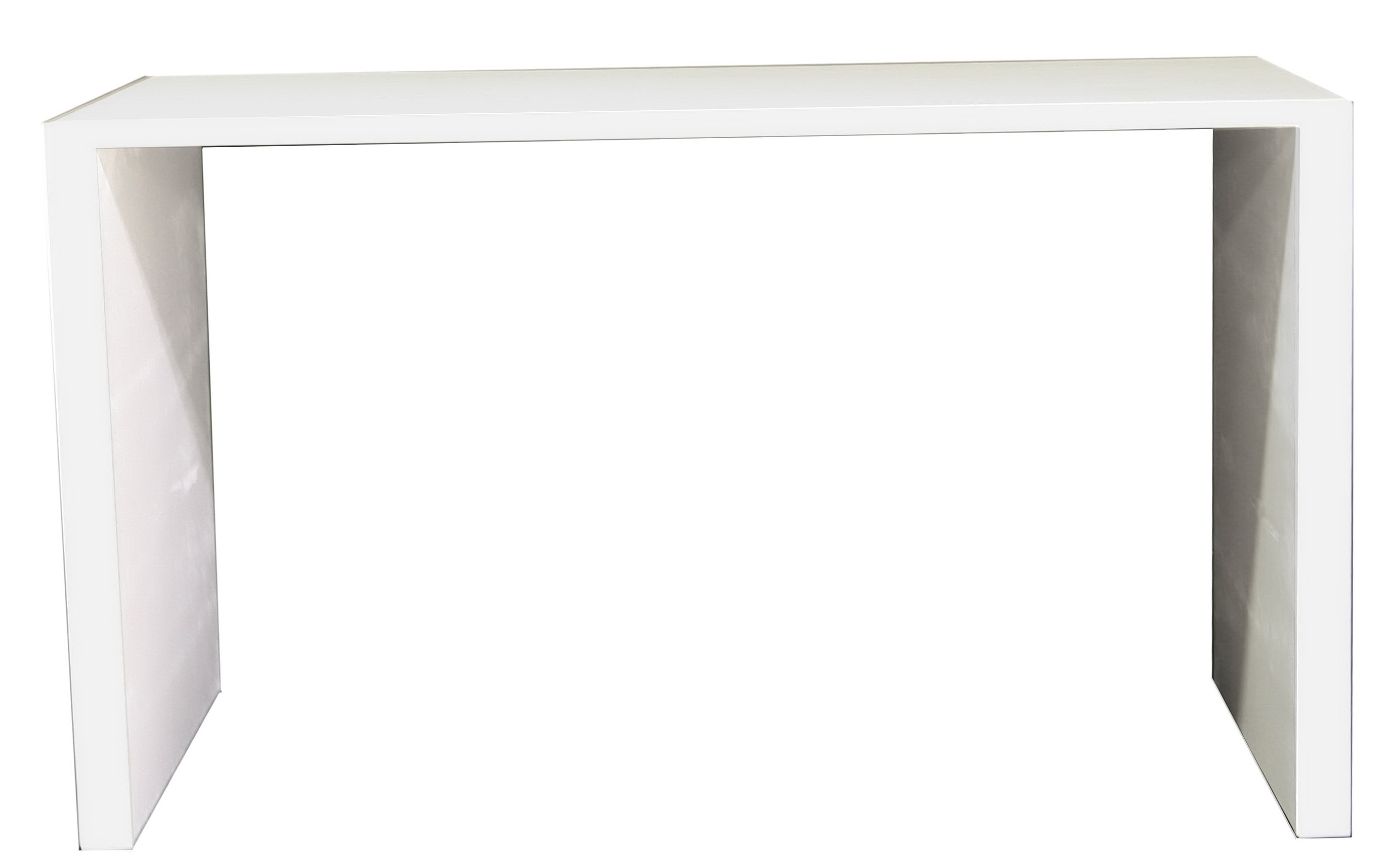 White Parsons Console Table
