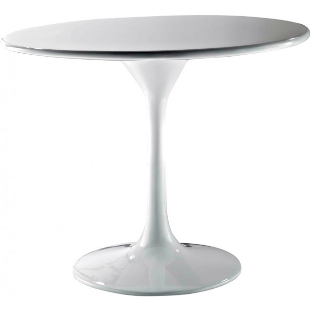 White Round Side Tables