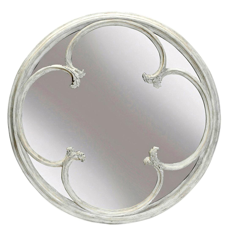 White Round Wall Mirror