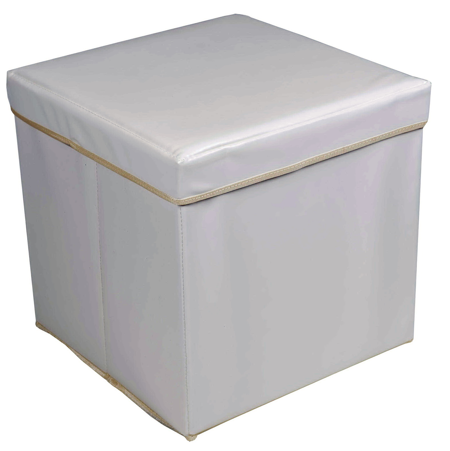 White Storage Ottoman Cube