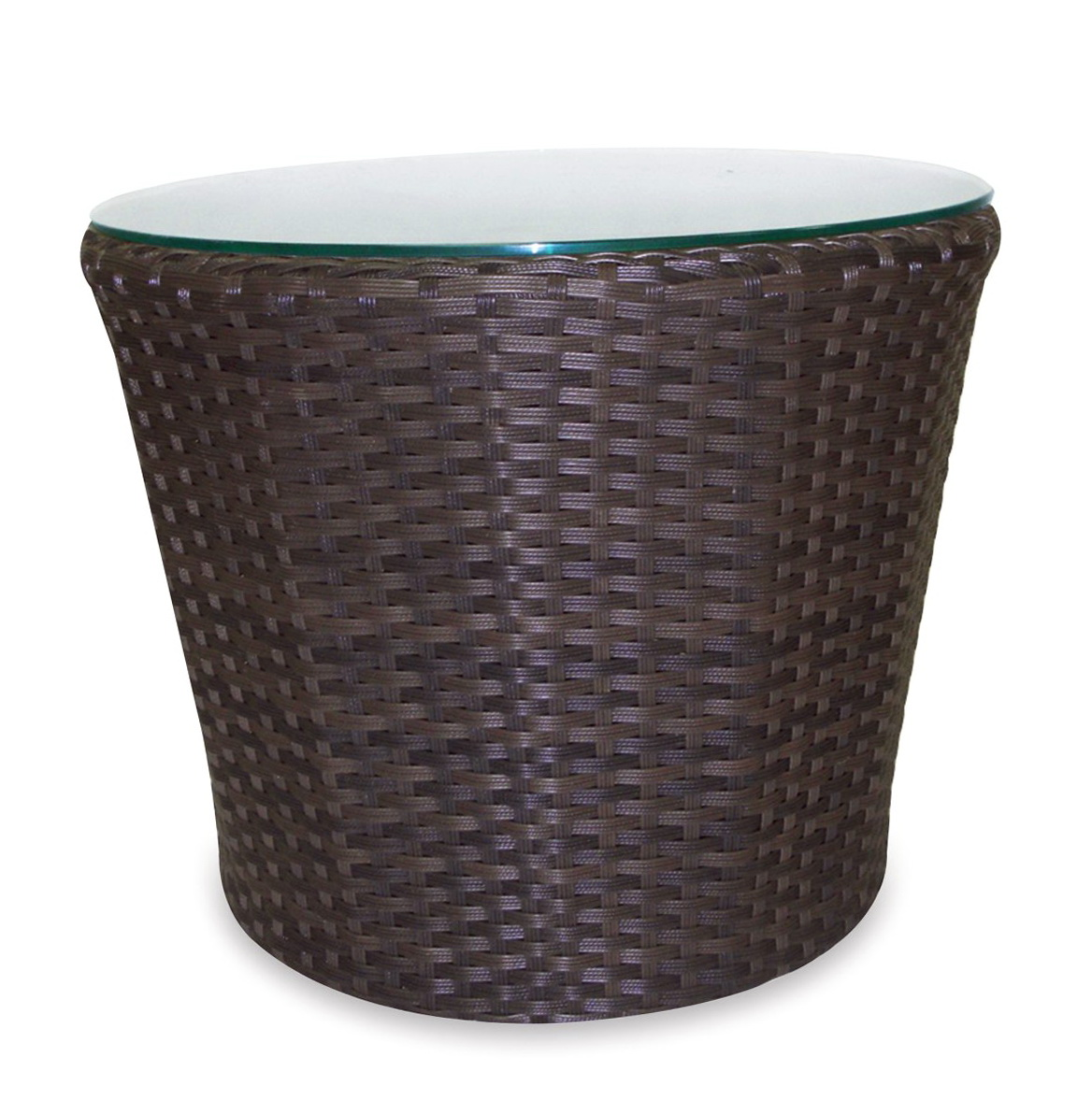 Wicker Side Table Round