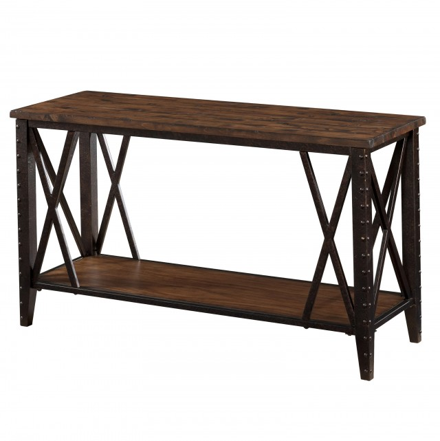 Wood Console Table With Metal Legs