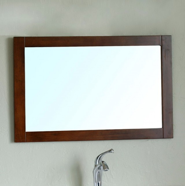 Wood Framed Bathroom Mirrors