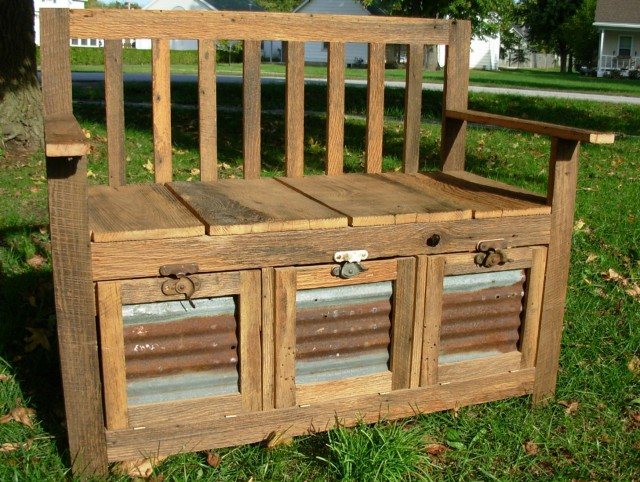 Wood Storage Bench Plans