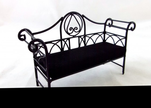 Wrought Iron Bench With Cushion