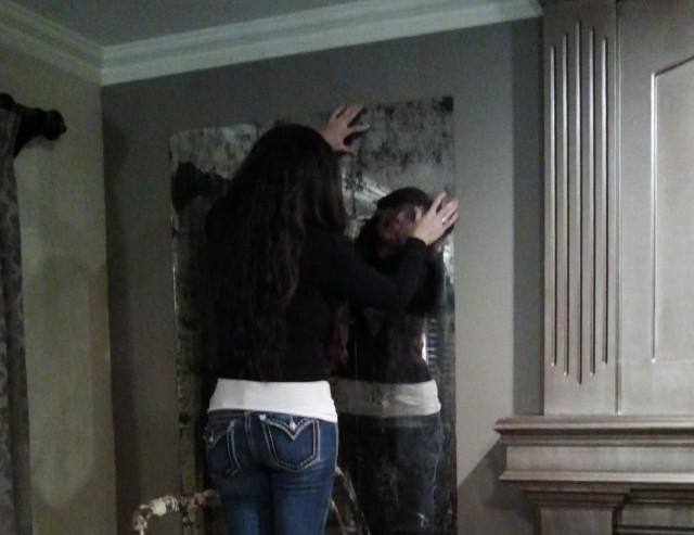 Antique Mirror Tiles For Backsplash Home Design Ideas