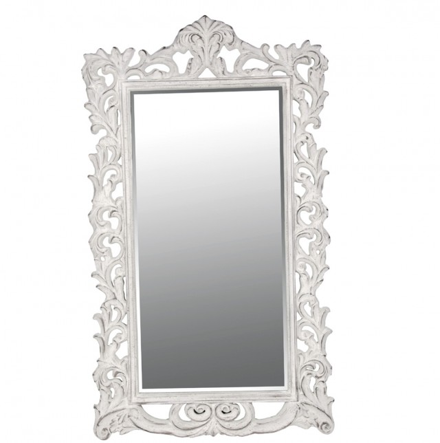 Antique White Full Length Mirror